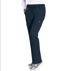 Grey's Anatomy 6 Pocket Black Cargo Scrub Pants
